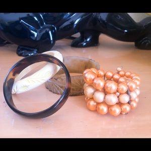 Vintage Bracelet Lot Bangle Cuff Rockabilly